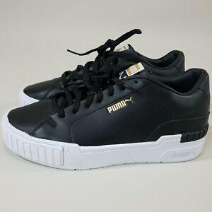 Puma Cali Sport Clean Womens Us 8 Shoes Sneakers black Leather 24.5 Cm