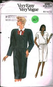 9340 Vintage Vogue Sewing Pattern Misses Loose Fitting Top Skirt Easy Casual OOP