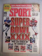1995 Sport Magazine February issue Super Bow XXIX Dallas vs. San Francisco