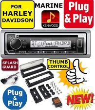 PLUG AND PLAY FOR 98-13 HARLEY KENWOOD MARINE CD BLUETOOTH USB STEREO PKG OPT XM