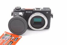 SONY ALPHA NEX-6 16.1MP MIRRORLESS DIGITAL CAMERA BODY W/ ACCESSORIES
