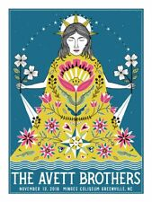 The Avett Brothers 11/13/2018 Poster Greenville NC Signed & Numbered #/200