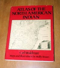 ATLAS OF THE NORTH AMERICAN INDIAN BY CARL WALDMAN HARDCOVER