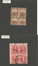 Q9201 - CUBA - QUARTINE USATE ANTICHE N. 146 E 176 - VEDI FOTO