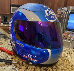 Carl Edwards Autographed Race Used 2006 NASCAR Dial Helmet