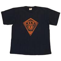 Vintage 90s Nike T-Shirt Mens Large Hip Hop Streetwear Basketball Swoosh Blue OG