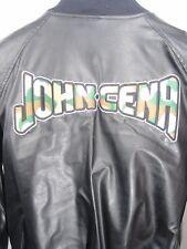 John Cena Mens S Bomber Varsity Jacket Wool Faux Leather WWE Wrestling Wrestler