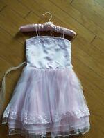 EUC Posh holiday wedding birthday dressy fluffy pink dress size L 5-6 years