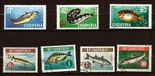 ALBANIE  Les poissons de la mer: serie complète #1005-1011   E15