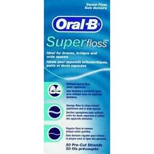 Oral-B SUPER FLOSS Dental 50 strands Pre-cut braces bridges spaces