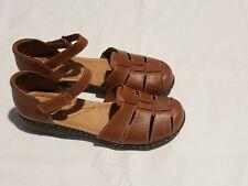 Clarks soft cushion Leather Fisherman Huarache Women's Size 8 Sandal Shoes