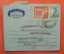 DR WHO 1959 FIJI AEROGRAMME NAUSORI TO CANADA FORWARDED 183749
