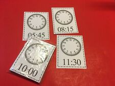 Dry Erase - Learn To Write The Time Clock Face - 40 Laminated Flash Cards