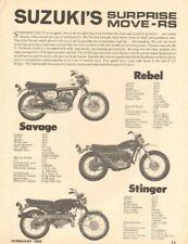 1969 Suzuki Rebel Savage Stinger Vintage Motorcycle Ad