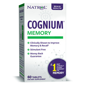 Natrol COGNIUM MEMORY Brain Health, Sharp Mind - 60 Tablets