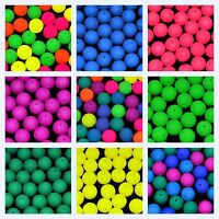 CHOOSE COLOR! 24pcs 10mm NEON Round Pressed Beads (UV-Active) Czech Glass