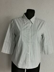 Lacoste womens cotton blend 3/4 sleeve multicoloured striped shirt size 42