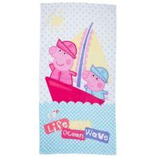 Toallas de baño y albornoces Peppa Pig 100% algodón con toalla de playa