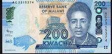 Malawi 200 Kwacha P60 2012 Mint Unc