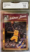 Hot 2016-17 Panini Donruss Lebron James Kobe Bryant 10 GEM MINT 💎 Lakers HOF