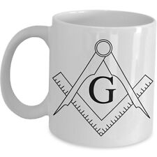 Free Mason Coffee Mug Masonic Masonry Cup Symbol G God Logo Sign Men Lodge Gift
