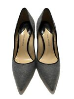 NEW, PAUL ANDREW GRAY FELT POINTED TOE PUMPS, 39, $795