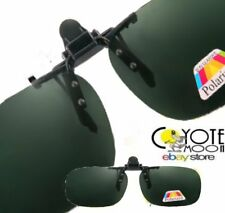 Flip Up Clip On Sunglasses Polarsed,Cycling,Driving,Night Vision,Fishing,Green