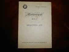 BMW OEM 1953-1954 R25 3 ERSATZTEILLISTE Spare Parts List Catalog Booklet Manual