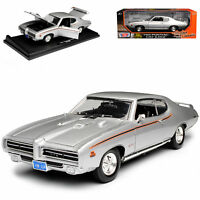 Pontiac GTO Judge Coupe Silber 1969 1/18 Motormax Modell Auto mit oder ohne in..