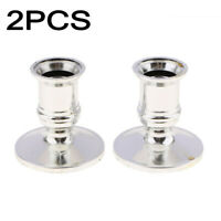 2pcs Taper Candle Holders For Standard Candlestick Home Room Decors Gold/silver