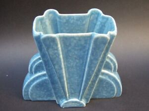 Art Deco SYLVAC Blue Mottle Pocket Vase Made in England # 1109 C.1930's  GIFT