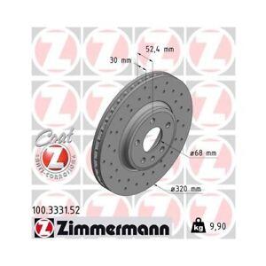 2 Disque de frein ZIMMERMANN 100.3331.52 DISQUE DE FREIN SPORT COAT Z