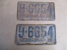 1935 NEBRASKA LICENSE PLATES PLATE ORIGINAL FORD CHEVY GMC 35 HOT STREET ROD 35