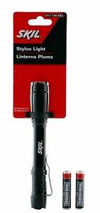 Skil Super Bright Waterproof LED Slim Stylus Pen Flashlight with 2 AAA Batteries