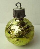 Avon Christmas Decanter Round Gold Ball Ornament 1967