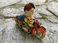 Vintage Schuco Motodrill Clown 1007 Wind Up Toy Germany Tin Toy Very Scarce