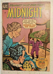 Midnight #6 ! AJAX 1958 ! SCARY STORIES BUT ONE COSTUMED CHARACTER ! hayfamzone