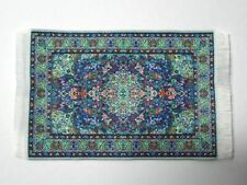 Dolls House Miniatures 1/12th Navy Turkish Rug 10 x 14cm (D698B) *