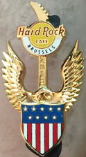 Hard Rock Cafe BRUSSELS 2013 PATRIOTIC Guitar Series PIN Eagle JULY 4th #73248
