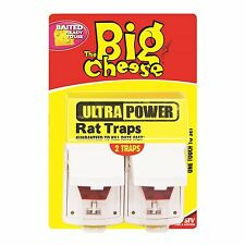 The Big Cheese Ultra Power RAT TRAPS Guaranteed to Kill Rats Fast - 2 Pack