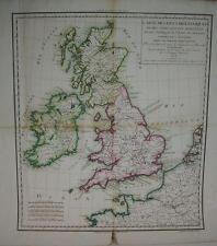 CHANLAIRE et L'ESPAGNOL Carte des Isles britanniques et des Côtes île An VI 1798