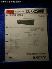 Sony Service Manual CDX 2500R CD Player (#4126)