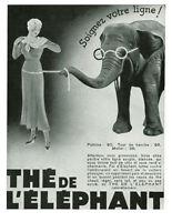 Publicité ancienne thé de l'élephant 1934 issue de magazine