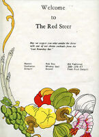 Older Restaurant Menu - The Red Steer - Colorado Burger for kids = 2.95