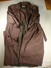 Giorgio Armani Brown Womens Full Length Trench Coat Size 38 100% Lana Wool