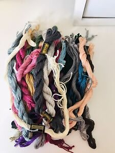 DMC Craft Lot of 25 Used Skeins Pearl Cotton Embroidery Thread Floss Multicolor