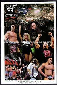 """THE ROCK + STONE COLD ETC COSTACOS MINI POSTER (PROMO) - """"WWW-SUPERSTARS"""""""