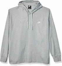 Nike Men's Sportswear Club Jersey Pullover Fleece Hoodie - Dark Grey - S-T