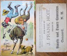 Black Old Man, Donkey & Dog 1880 Victorian Trade Card - Alden Fruit Vinegar