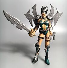 1996 McFarlane Toys TIFFANY AMAZON Spawn Action Figure COMPLETE Green & Silver